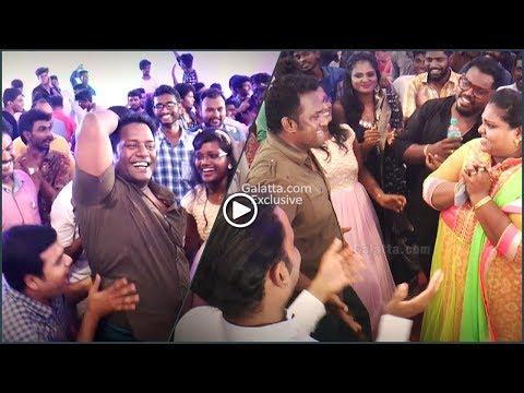 #RoboShankar and family shake a leg at #Kaala Sandy's wedding reception