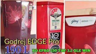 Godrej fridge EDGE Pro 190 L 3 Star Direct Cool Refrigerator (RD EPRO 250 TAF 3.2 GLS WIN)