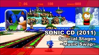 SONIC CD (2013): Special Stage - Music Swap - (720P/60FPS)