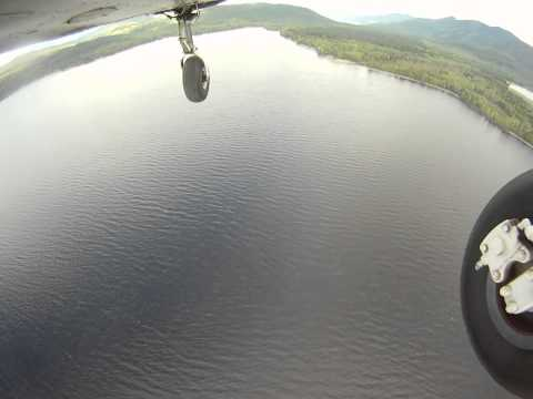 Aerial Video of a Flight Over Canim Lake
