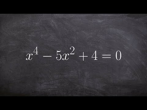 The Easy Way To Factor And Solve A Polynomial To The 4th Power