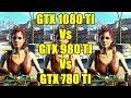 Fallout 4 GTX 1080 TI Vs GTX 980 TI Vs GTX 780 TI 1440p Frame Rate Comparison