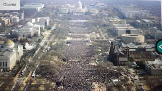 Comparison of attendance at Obama and Trump inauguration