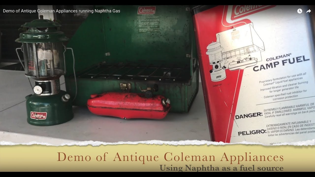 Demo of Antique Coleman 425 Stove and Lantern