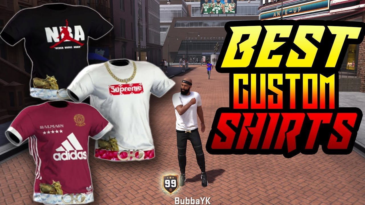 BEST CUSTOM SHIRTS! How to Swag on NBA 2K18 - YouTube