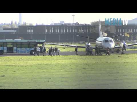 Vliegtuig in problemen maakt voorzorgslanding op Rotterdam Airport