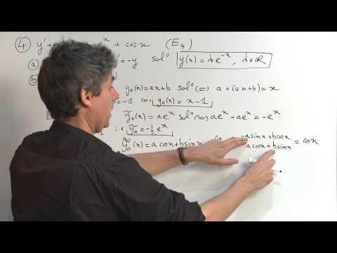 Exercice 1 (Equations différentielles) [06991]