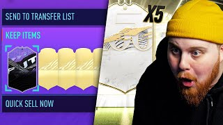 ÖPPNAR 5 ICON PACKS PÅ MITT KONTO & 24H STREAM HIGHLIGHTS!! - FIFA 21 SVENSKA