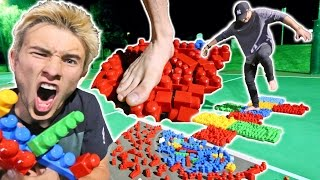 MEGA LEGO HOPSCOTCH! *PAINFUL GAME*