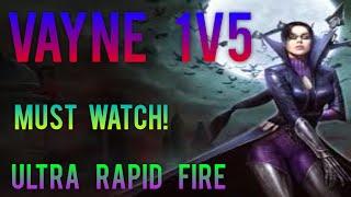 Vayne URF - 1V5 PENTAKILL! - League Of Legends 2016