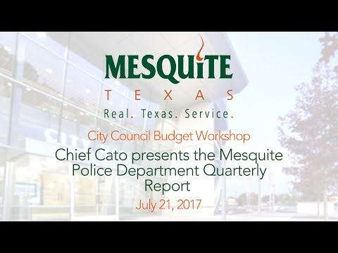 7/21/17 Budget Workshop - MPD Quarterly Report