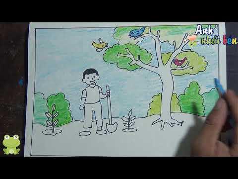 Vẽ tranh  bảo vệ môi trường/painting environmental Protection