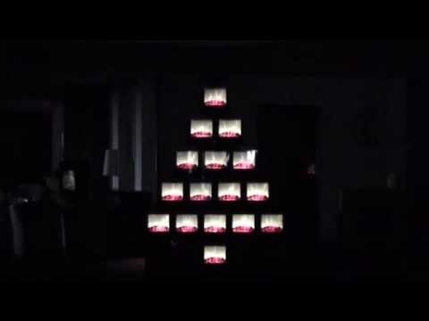 How many Dimplex MicroFires does it take to make a Christmas tree?