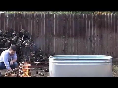 Infredible wood fired hot tub !! 🔥🔥. DIY. (modern house work)