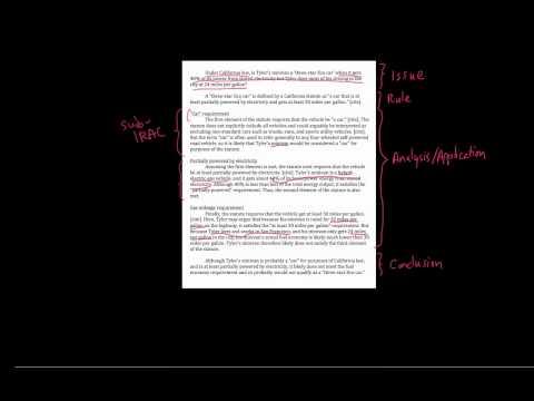 6. IRAC with statutes - sample memo