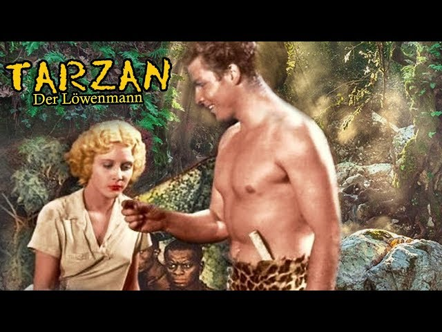 Tarzan – Der Löwenmann (Abenteuer Klassiker auf Deutsch, ganzer Abenteuerfilm, Schwarz-Weiß Film)