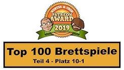 Top 100 - Brettspiele 2019 - Patreon Award (Teil 4)