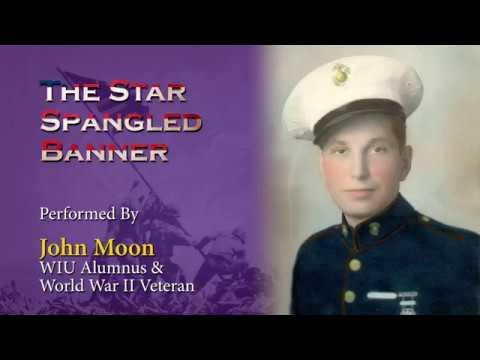 1939 WIU Alumnus and WWII Marine Corps Veteran Sings the National Anthem