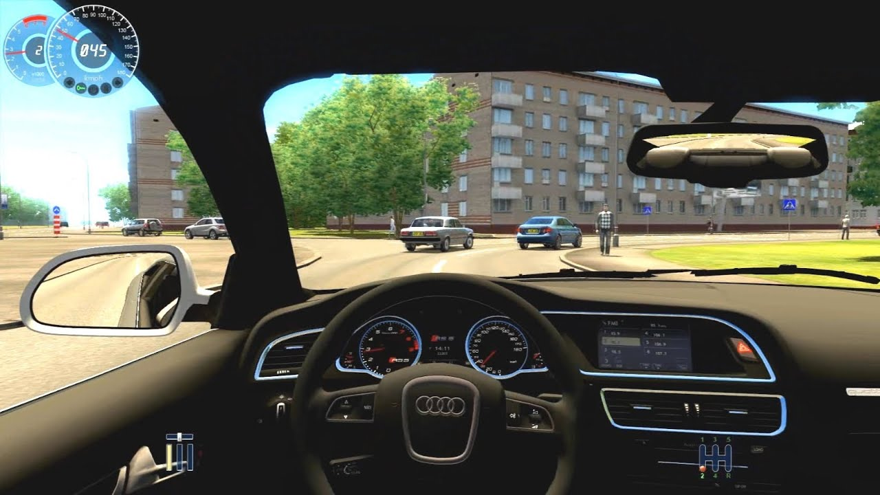 city car driving simulator audi rs5 crazy fast driven
