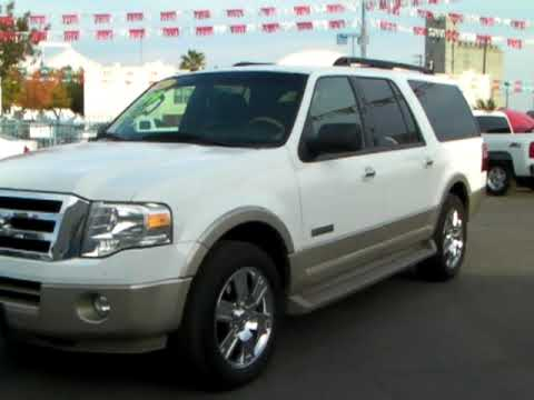 Ford Expedition El >> 2007 Ford Expedition El Eddie Bauer V8 5.4L White w/ Tan ...