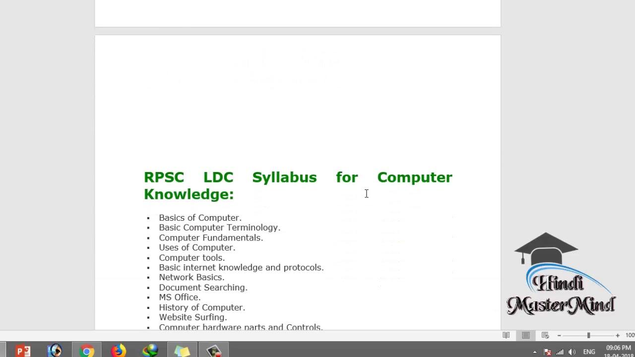 Ssc Ldc Syllabus 2015 Pdf