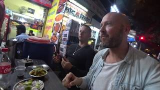 Eating Indian Street Food In Delhi Night Market