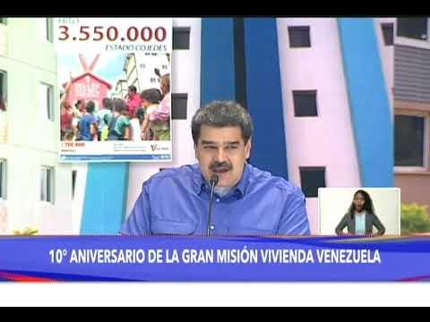 Gran Misión Vivienda Venezuela cumple 10 años con 3.550.000 hogares construidos, 29 abril 2021