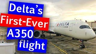 Delta A350 Inaugural