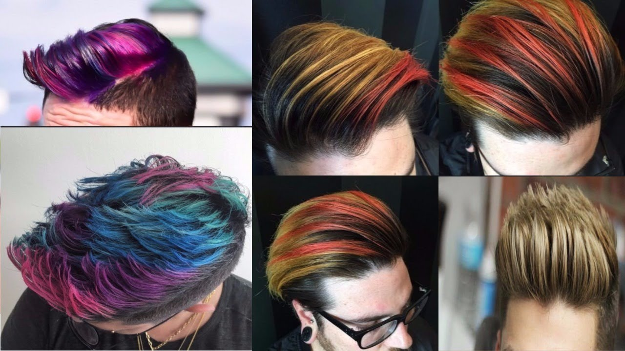 Mens Hair Color Trends 2018  Haircolor Ideas For Men