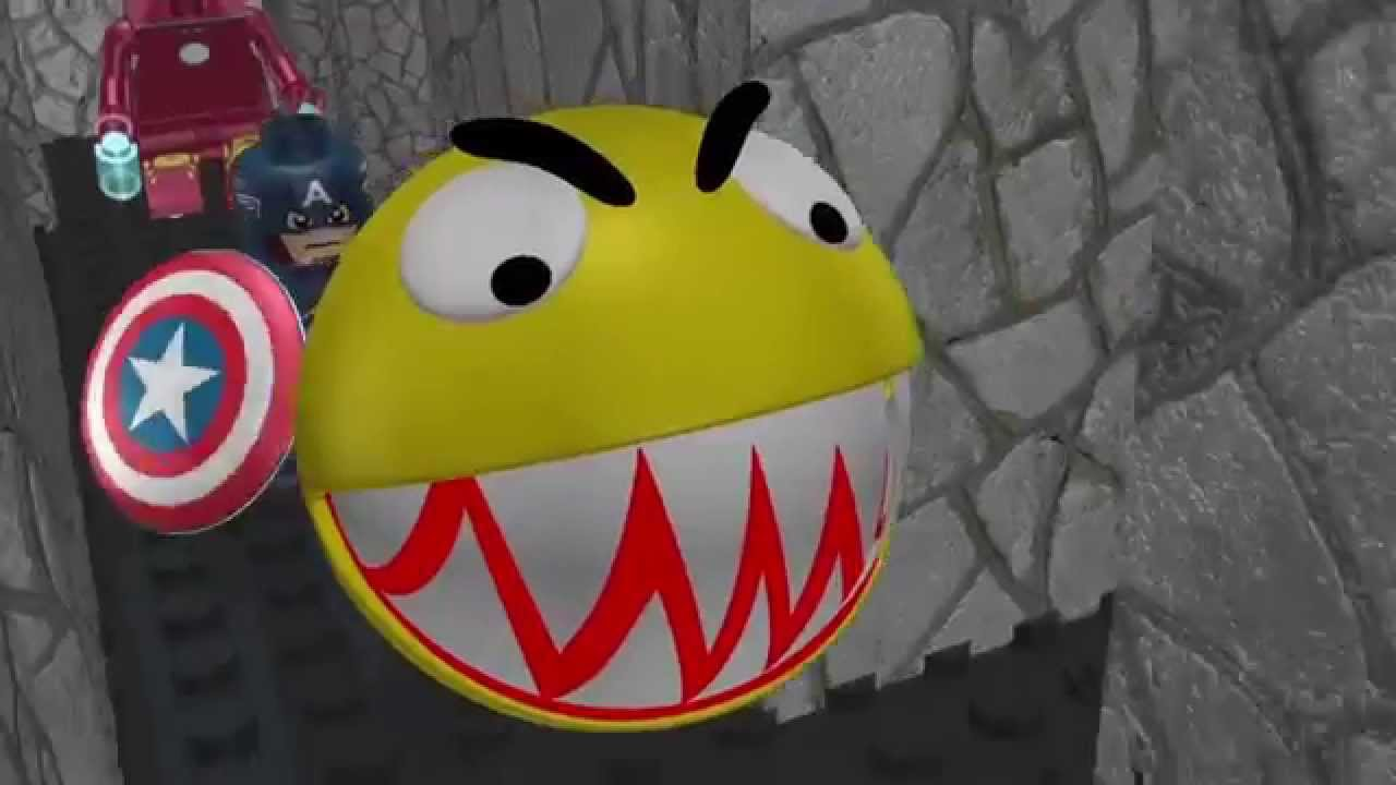 Pacman vs Lego Avenger - YouTube