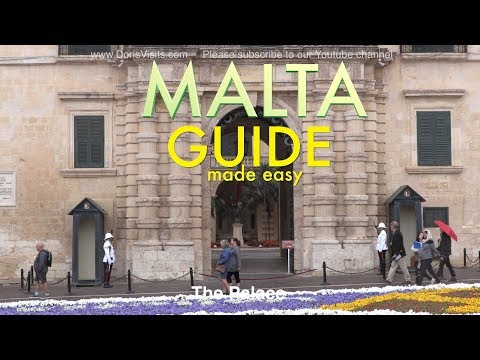 MALTA a GUIDE of this very pleasant harbour city Valletta by