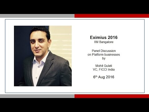 Mohit Gulati: 4 Startups Eximius 2016 IIMB