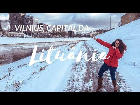 VILNIUS, CAPITAL DA LITUANIA NO INVERNO