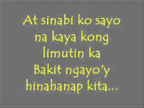 Mahal pa rin kita lyrics by Rockstar   YouTube