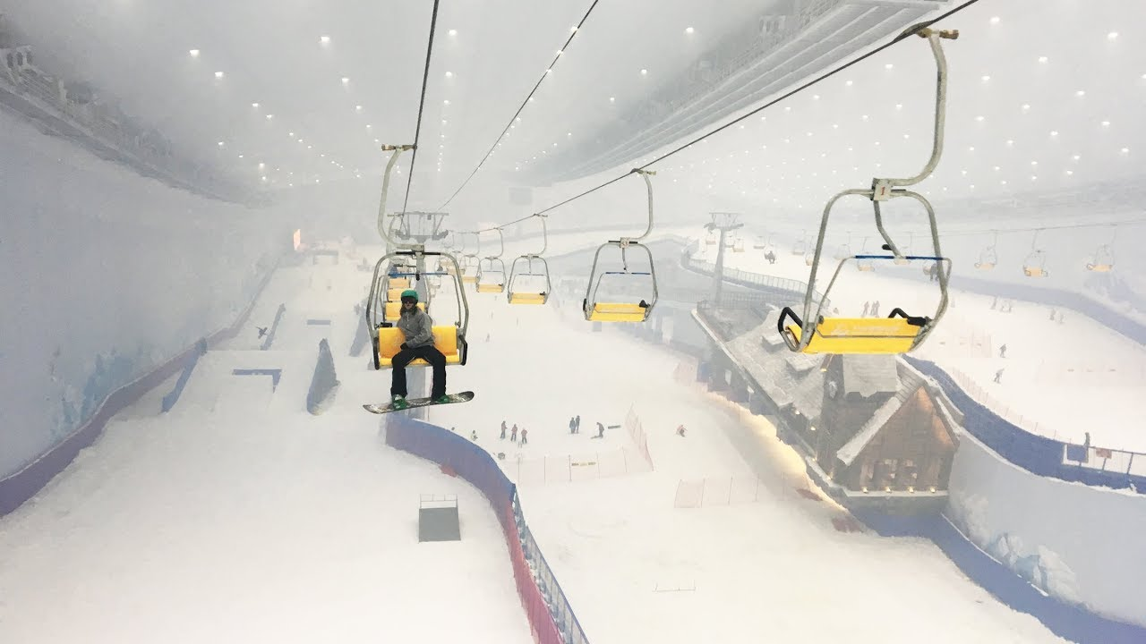 inside the largest indoor ski resort in the world - the banana open