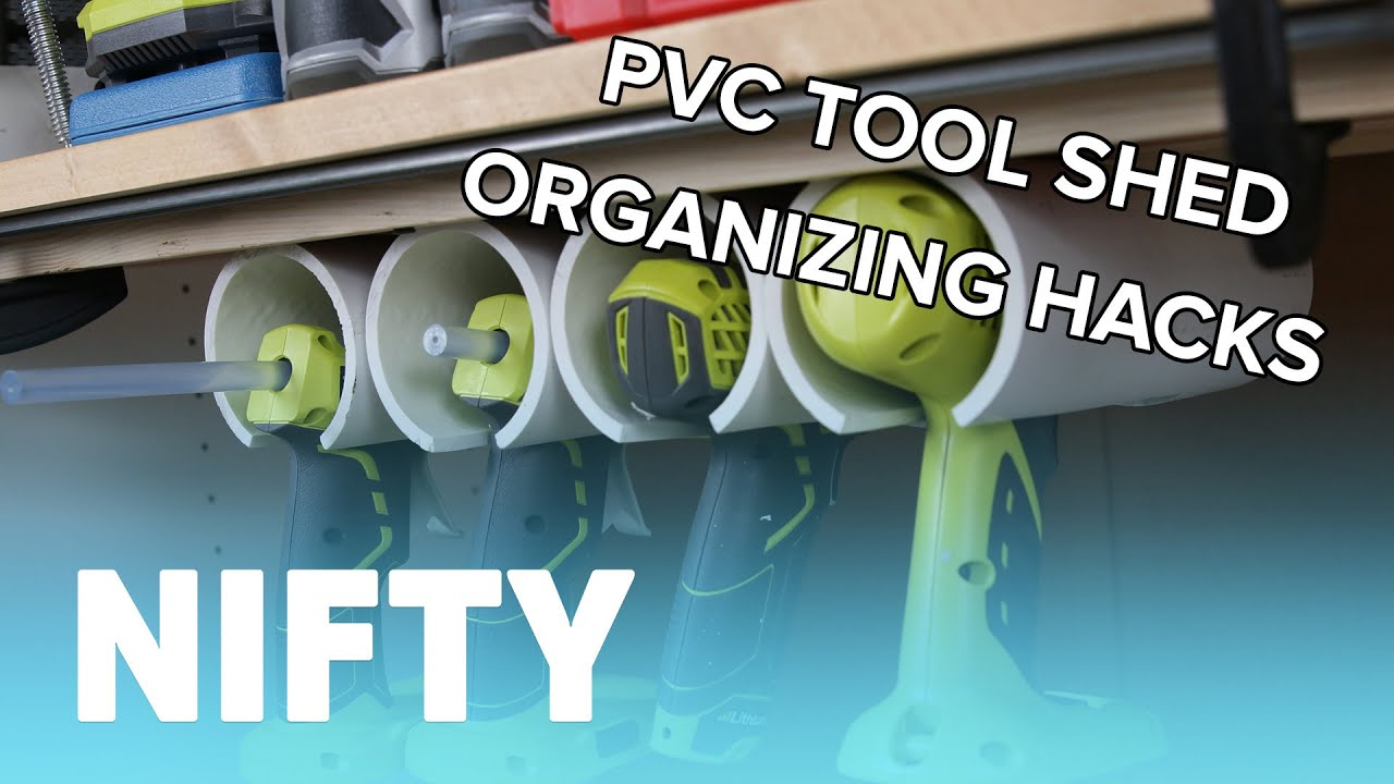 Pvc Tool Shed Organizing Hacks Youtube