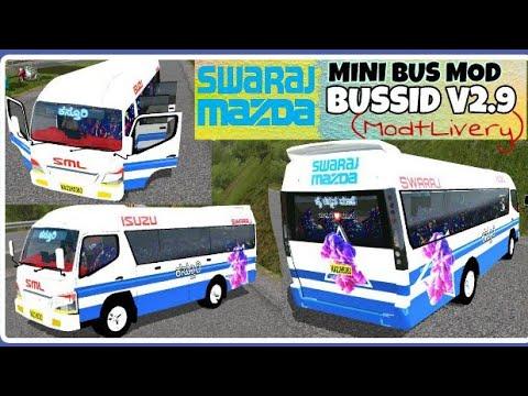 BUSSID V2 9|Swaraj Mazda Mini Bus Mod{Mod+Livery} Indian Mini Bus Mod For  Bus Simulator Indonesia