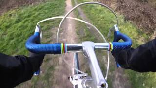 Cycling in London 2016 - Vintage racing bicycle Ammaco