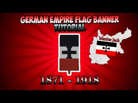 Minecraft Banner Tutorial - How To Make A German Empire Flag Banner