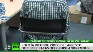 Arrestan en España a 'hacktivistas' de Anonymous