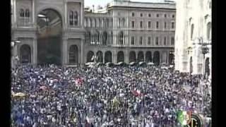 Serie A TIM 2009/2010 - 18^ Scudetto - Festa Tifosi in Piazza Duomo 1/2 (16-05-2010)