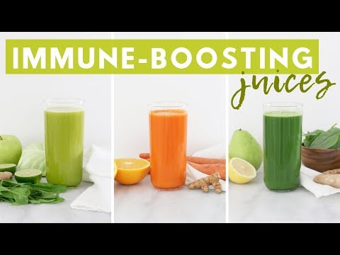 3 Immune Boosting Juices + JUICER GIVEAWAY! Healthy Grocery Girl - YouTube