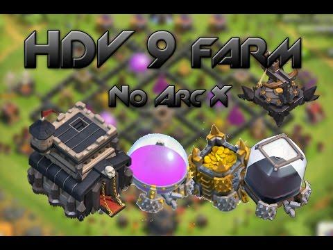 [Speed building] HDV 9 farming - no Arc X