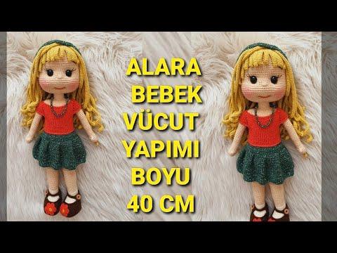 #amigurumiHair Ayşe Bebek Bukleli Saç ve gül toka yapılışı PART 5 (Amigurumihair English subtitle)