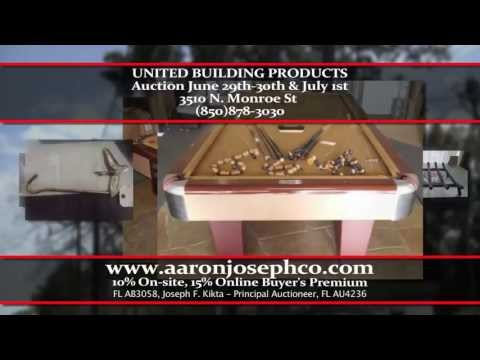 United Building Products Business Liquidation Auction 6/29, 6/30, & 7/1