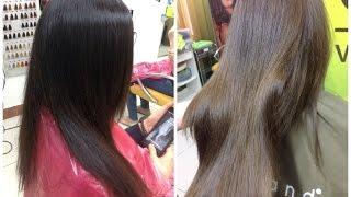 Декапирование и последующая коррекция цвета волос