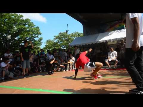B-BOY PARK 2015 U20 Crew Battle 予選 Poppe the パフォーマー vs モアパワープロレスリング