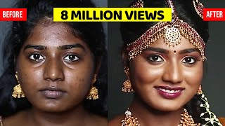 SOUTH INDIAN MAKEUP LOOK FOR DARK SKIN