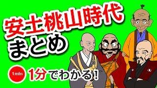 1分で分かる日本の歴史 「安土桃山時代まとめ」