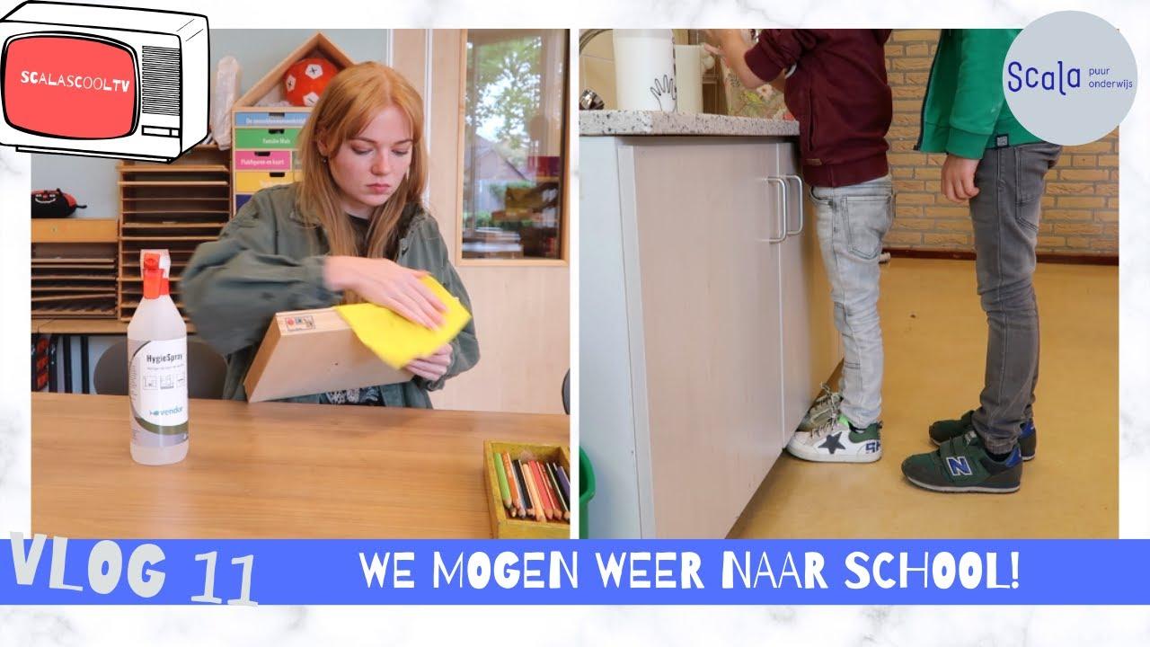 We mogen weer naar school! Voorbereidingen en een kijkje in de klas  - ScalasCOOLtv vlog #11